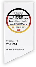 "PULS was honored with the Deutscher Exzellenz-Preis 2019 in the category ""Internal Communication""."