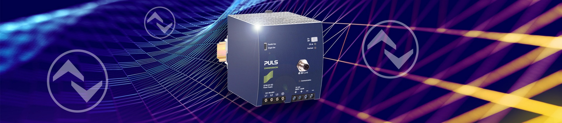The first DIN rail power supply with an integrated IO-Link interface: DIMENSION QT40.241-B2