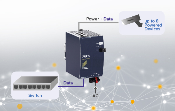PoE all-in-one solution with integrated power supply
