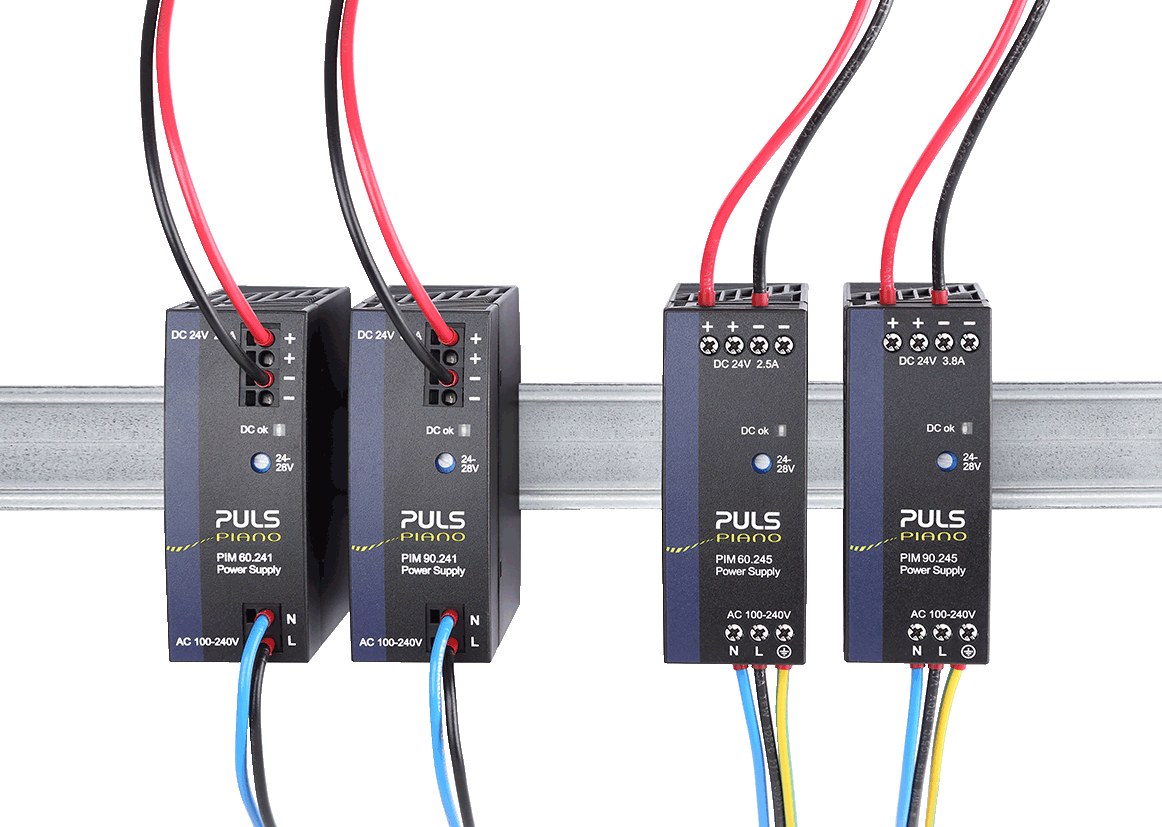 Cost-effective power supplies with basic functionality and various terminal options.